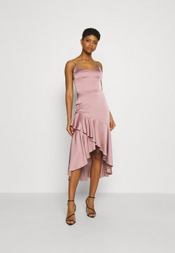 Nly by Nelly - SUCH A FLOUNCE MIDI DRESS - Cocktailkleid/festliches Kleid - dusty pink