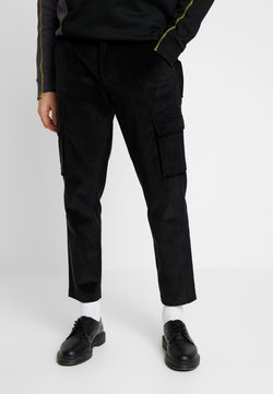 Mennace - UTILITY TROUSERS - Pantaloni cargo - black