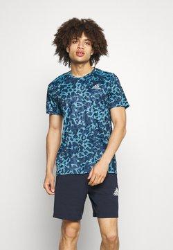 adidas Performance - TEE MEN - T-shirt imprimé - hazy blue