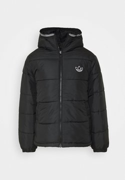 adidas Originals - HOODED PUFF - Winterjacke - black