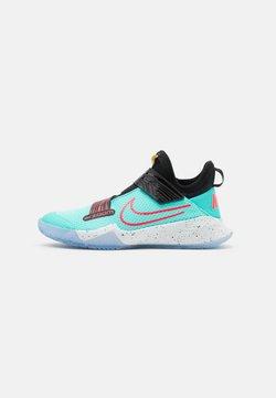 Nike Performance - ZOOM FLIGHT UNISEX - Basketball shoes - aurora green/laser crimson/black