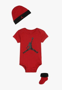 Jordan - JUMPMAN HAT BOOTIE SET - Mütze - gym red/black