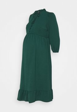 New Look Maternity - HBONE TIE DETAIL SMOCK DRESS - Vestido camisero - dark green