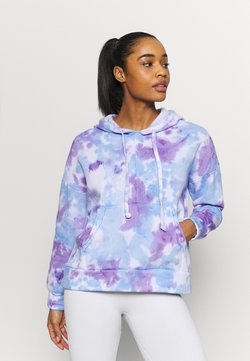 Free People - TIE DYE WORK IT OUT HOODI - Sweatshirt - purple