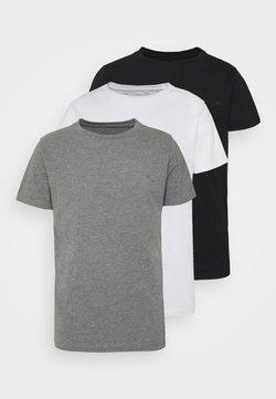 Replay - CREW TEE 3 PACK - T-shirt basic - black/grey melange/white