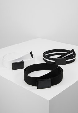 Urban Classics - BELT 3 PACK - Vyö - black/white