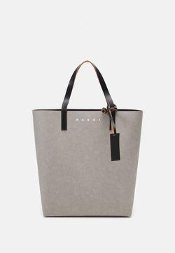 Marni - TRIBECA  UNISEX - Shopping Bag - natural grey/black