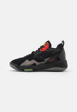 Jordan - ZOOM '92 - Sneakersy wysokie - black/volt/chile red/smoke grey