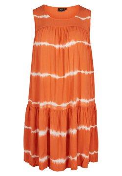 Zizzi - Freizeitkleid - orange batik
