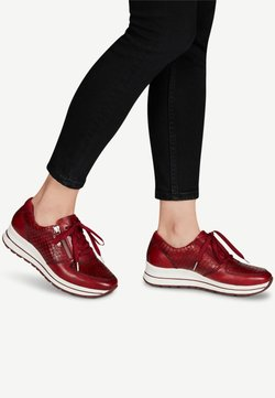 Tamaris Pure Relax - LACE UP - Sneaker low - scarlet/croco