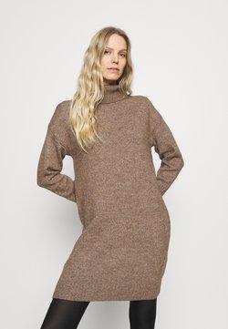 Anna Field - Stickad klänning - light brown melange