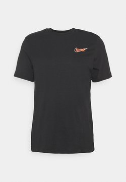 Nike Performance - DRY TEE - T-shirt con stampa - black/dark smoke grey