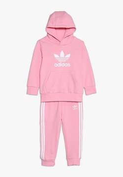 adidas Originals - TREFOIL HOODIE SET - Survêtement - light pink/white