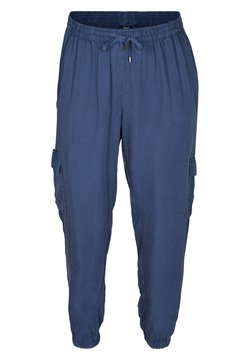 Zizzi - MIT GROSSEN TASCHEN - Pantalon de survêtement - blue