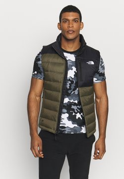 The North Face - ACONCAGUA VEST - Bodywarmer - black / new taupe green