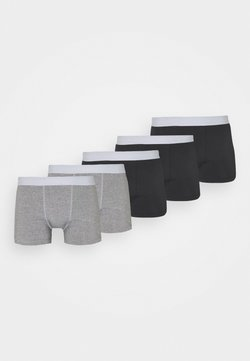 Pier One - 5PACK - Shorty - black/mottled grey