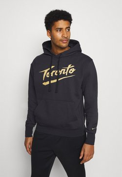 Nike Performance - NBA TORONTO RAPTORS CITY EDITION ESSENTIAL HOODIE - Pelipaita - black/club gold