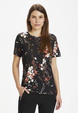 InWear - T-Shirt basic - black botanical bouquet