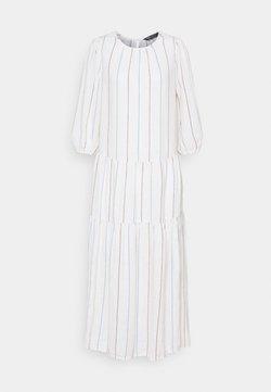 Marks & Spencer London - TIERED MIDI DRESS - Freizeitkleid - white