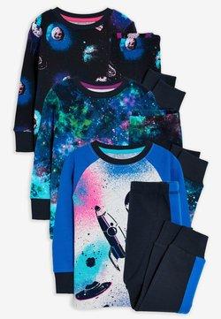 Next - 3 PACK SPACE PRINT  - Pyjama - blue