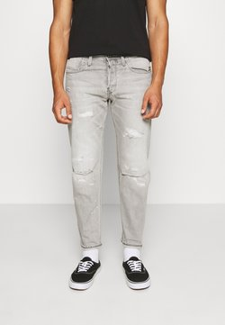 G-Star - 3911 ALUM RELAXED TAPERED - Jeans Relaxed Fit - sato black denim/sun faded ripped pewter grey