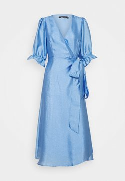 Gina Tricot - MILLY WRAP DRESS - Vestito elegante - light blue
