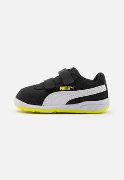 Puma - STEPFLEEX 2 UNISEX - Kuntoilukengät - black/white/energy yellow