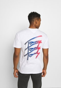 Tommy Jeans - REPEAT SCRIPT TEE UNISEX - Camiseta estampada - white