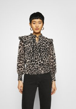 Dorothy Perkins - SHIRRED LEOPARD  - Bluse - multi