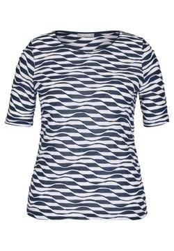 Rabe 1920 - MIT RINGEL-MUSTER UND WELLENSTRUKTUR - T-Shirt print - dunkelblau