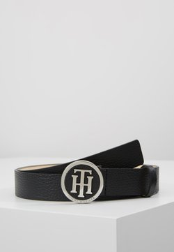 Tommy Hilfiger - ROUND BUCKLE BELT - Ceinture - black