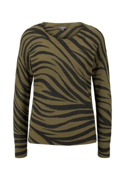 mine to five TOM TAILOR - IM ZEBR - Strickpullover - olive zebra design