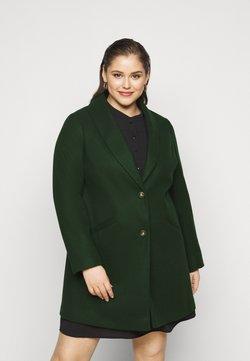 Dorothy Perkins Curve - MINIMAL SHAWL COLLARCROMBIE COAT - Kurzmantel - green