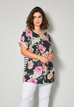 Sara Lindholm by HAPPYsize - Bluse - schwarz pink