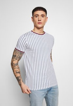 Redefined Rebel - TEE - T-shirt imprimé - white denim