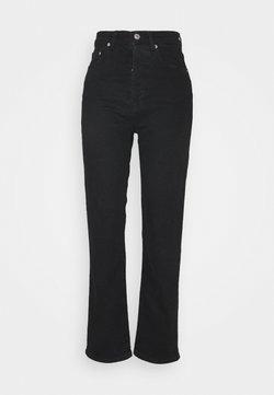 NA-KD - HIGH WAIST - Jeans Straight Leg - black