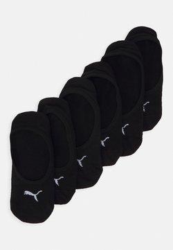 Puma - FOOTIE 6 PACK UNISEX - Varrettomat sukat - black