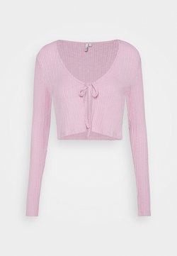 Nly by Nelly - TIE FRONT - Gilet - pink