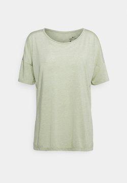 Nike Performance - YOGA LAYER - Camiseta básica - celadon heather/olive aura