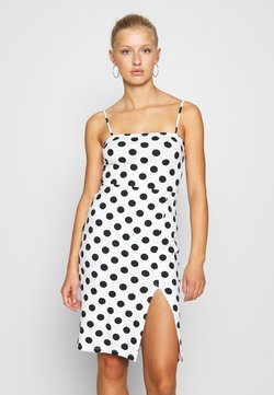 Even&Odd - Vestido de tubo - white/black