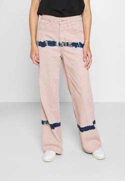 BDG Urban Outfitters - PUDDLE  - Jeans relaxed fit - pink tie dye