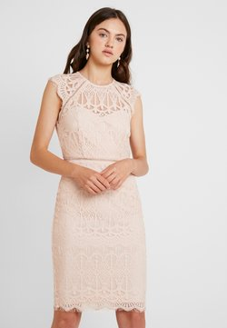Nly by Nelly - CAP SLEEVE MIDI DRESS - Cocktailklänning - dusty pink