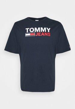 Tommy Jeans Plus - CORP LOGO TEE - T-shirt imprimé - twilight navy
