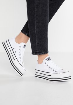 Converse - CHUCK TAYLOR ALL STAR PLATFORM LAYER - Baskets basses - white/black/thunder