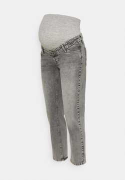 MAMALICIOUS - TOWN CROPPED COMFY - Jeans Slim Fit - light grey denim