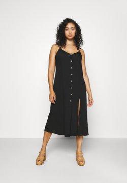 Simply Be - BUTTON THROUGH CAMI MIDI DRESS - Vestido informal - black