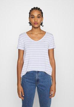 Hollister Co. - ICON EASY  - T-Shirt print - white/blue
