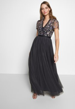 Needle & Thread - PRARIE FLORA BODICE MAXI DRESS - Abito da sera - graphite