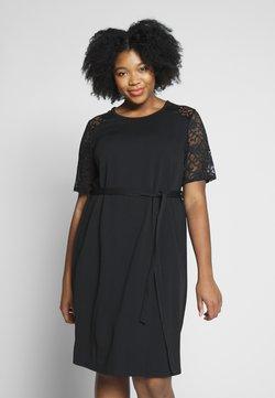 Dorothy Perkins Curve - LACE SHOULDER BELTED SHIFT DRESS - Cocktailkleid/festliches Kleid - black
