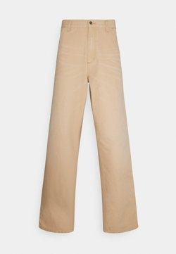 Carhartt WIP - SINGLE KNEE PANT DEARBORN - Jeans Straight Leg - brown